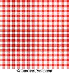 パターン, 白, checkered, 生地, 赤