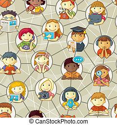 パターン, 社会, -, ネットワーク, 人々