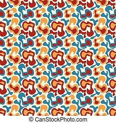 パターン, 種族, seamless, バックグラウンド。, 落書き, オレンジ, しまのある
