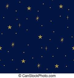 パターン, 空, seamless, 夜