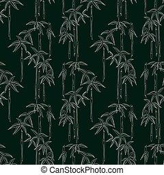 パターン, 竹, seamless, アウトライン