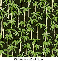 パターン, 竹, seamless, 森林