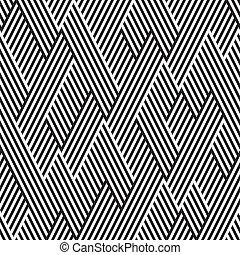パターン, 線, 黒, 白, ジグザグ