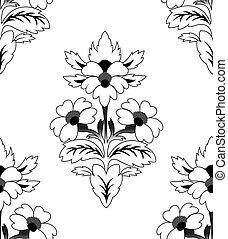 パターン, 繰り返すこと, 花, seamless
