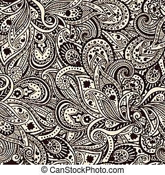 パターン, 美しい, ペイズリー織