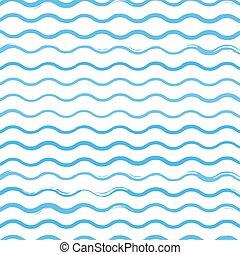 パターン, 背景, ブラシ, イラスト, 波