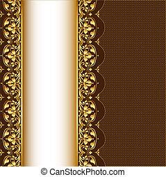 パターン, 背景, gold(en), 網