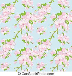 パターン, 花, カラフルである, seamless, 背景