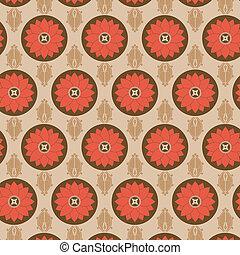 パターン, 花, セット, seamless, カラフルである