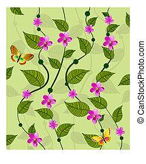 パターン, 花, ツル