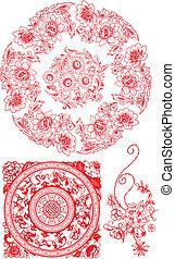 パターン, 花, デザイン