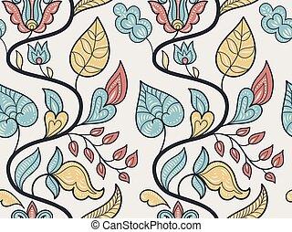 パターン, 花, ベクトル, seamless