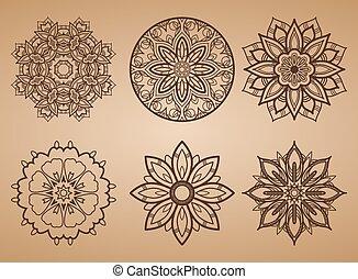 パターン, 花, ラウンド