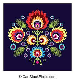 パターン, 花, 人々