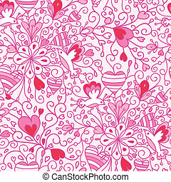 パターン, 花, 愛, seamless, 背景