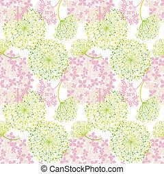 パターン, 花, 春, カラフルである, seamless