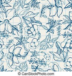 パターン, 花, 春