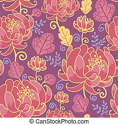 パターン, 花, 魔法, 背景, seamless