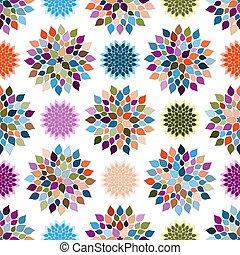パターン, 花, seamless, カラフルである