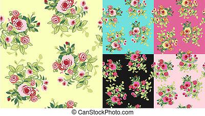 パターン, 花, seamless, 空想