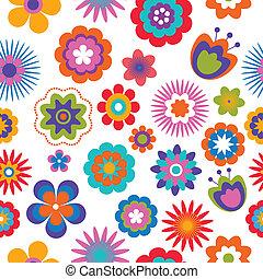 パターン, 花, seamless, 背景