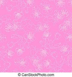 パターン, 花, seamless, sakura