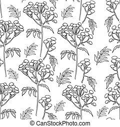 パターン, 花, tansy