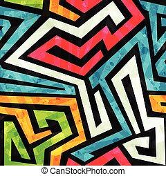 パターン, 落書き, グランジ, seamless, 効果