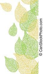 パターン, 葉, ベクトル, seamless, 流行