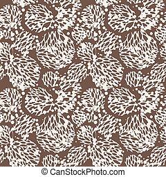 パターン, 葉, ベクトル, seamless