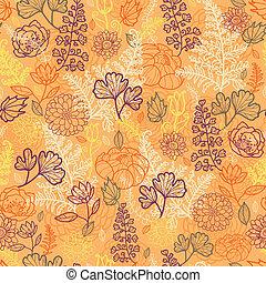 パターン, 葉, seamless, 背景, 花, 砂漠