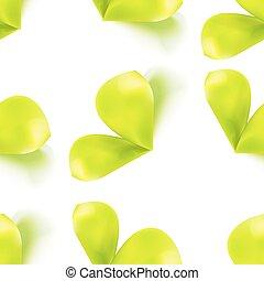 パターン, 葉, seamless, 芽