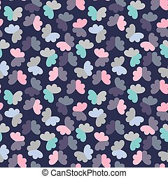 パターン, 蝶, ベクトル, seamless, 幾何学的