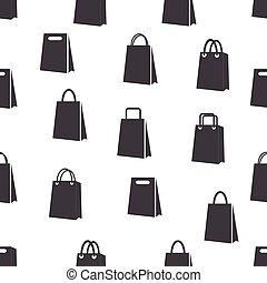 パターン, 袋, seamless, アイコン