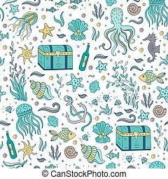 パターン, 要素, 海
