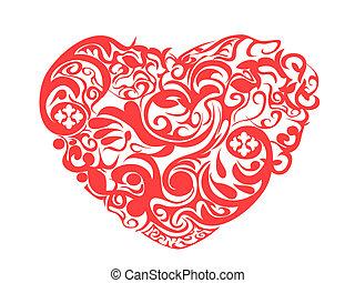 パターン, 赤い心臓