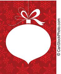 パターン, 赤, 雪片, 背景, クリスマス