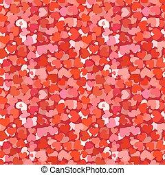 パターン, 赤,  seamless, たくさん, 心
