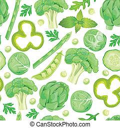 パターン, 野菜, 緑, seamless