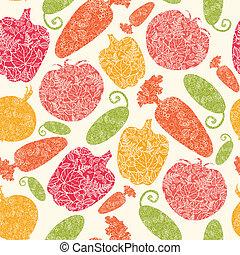 パターン, 野菜, seamless, 背景, textured