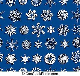 パターン, 雪片, seamless