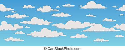 パターン, 雲, 背景,  seamless