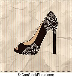 パターン, 靴, 女性