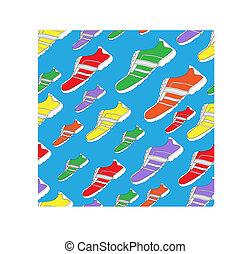 パターン, 靴