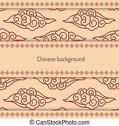 パターン, 飾られる, 背景, 中国語