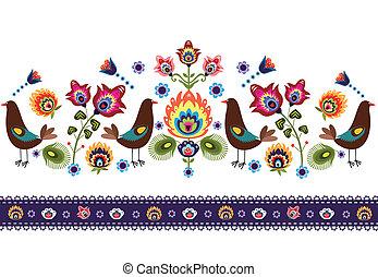 パターン, 鳥, 人々