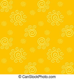 パターン, 黄色, 太陽