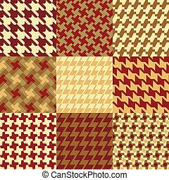パターン, 9, houndstooth