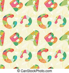 パターン, abc, カラフルである, seamless, 背景