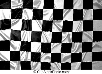 パターン, checkered, 勝者, flag.